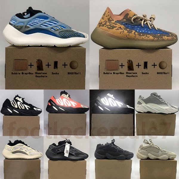 With Box Arzareth Alvah Azael 700 V3 380 Blue Oat Mist Alien Reflective Sneakers Kanye West 500 Blush Wave Runner Bone Running Shoes 36- tcN