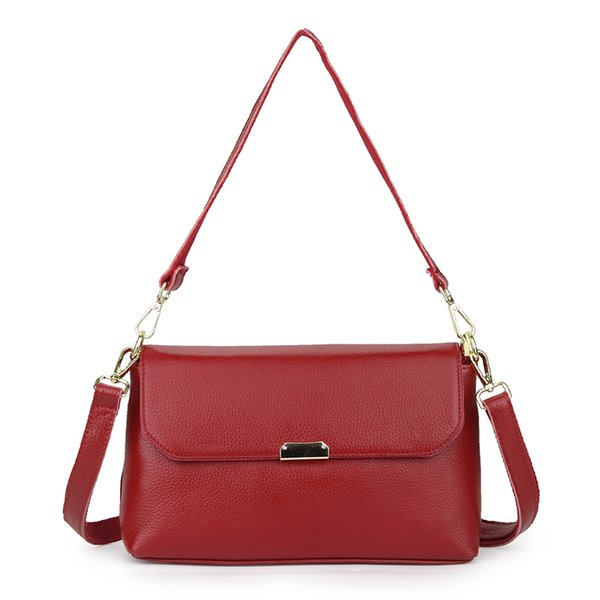 ladies first layer of leather handbags 2020 women's single shoulder messenger bag girls fashion wild soft cowhide purse (585422912) photo