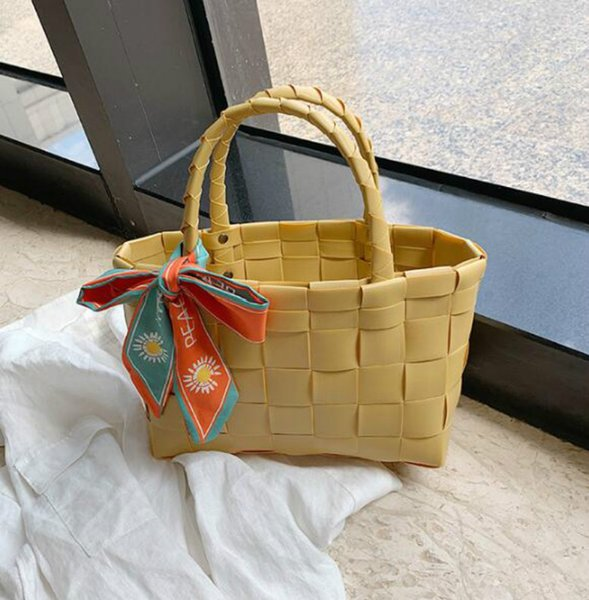 handbags purses wholesale women shipping bags large capacity mom weaving shoulders bag with silk scarves (584378039) photo