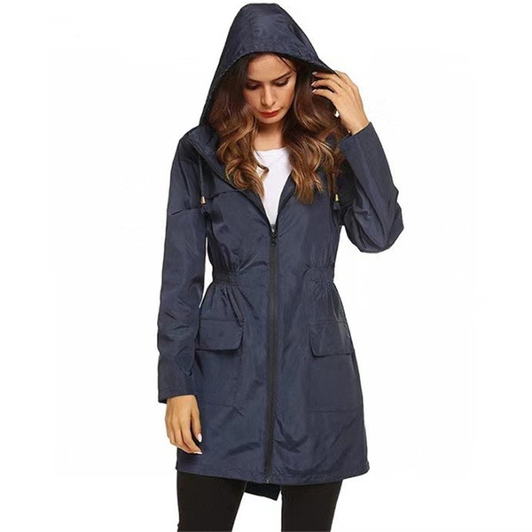 5 Color Brand Design Autumn Winter Women Trench Coats Solid Color Yoga Outfit Sport Athletic Hoodie Coat Drop Shopping