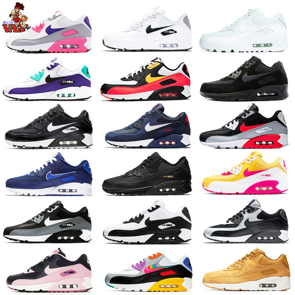 2019 New Classic Mens Women Maxes 90s Running Shoes 90 Max Trainers Hiking Jogging Walking Sports Big size Sneakers
