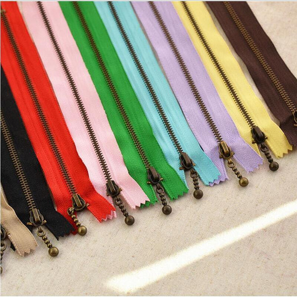 100pcs 3# 40cm 30cm 20cm 15cm 12cm Metal Nylon Coil Zippers Diytailor Sewing Tools Garment Accessories Cremalleras Costura Au189