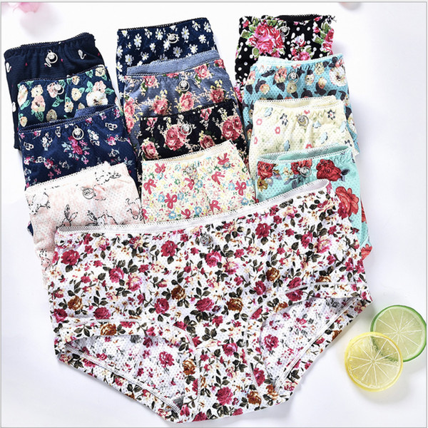 Designer sexy panties womens low waist briefs underwear floral print panty women underwears panties breathab lingerie women clothes 12 style