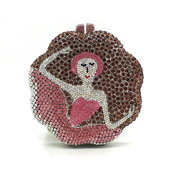 ladies bridal wedding party purses elegant purses women fashion evening party handbag wallet luxury diamonds crystal clutches (600394234) photo