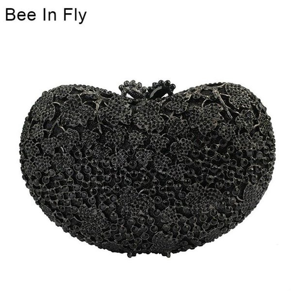 bee in heart shape design wedding purse evening clutch bags for ladies handbags online crystal bags (596322513) photo