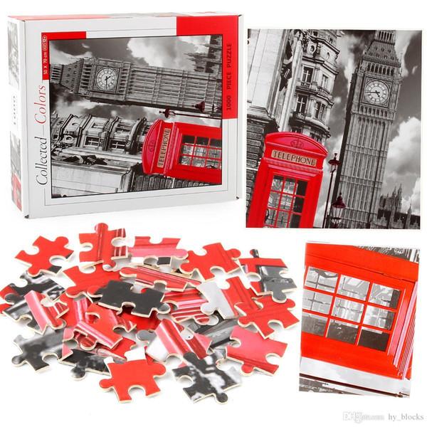 1000 Pieces Of Paper Puzzles Famous Paysage Animal Cartoon Puzzle Decompression Plane Puzzles Children's Educational Game