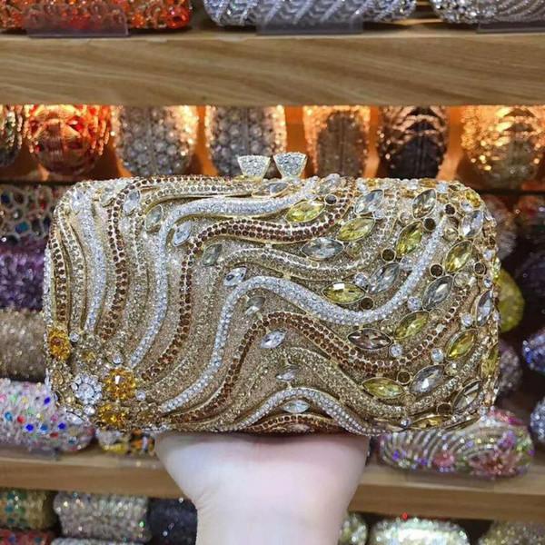 ladies bridal wedding party purses elegant purses women evening party handbag wallet luxury diamonds fairy crystal clutches (595613236) photo
