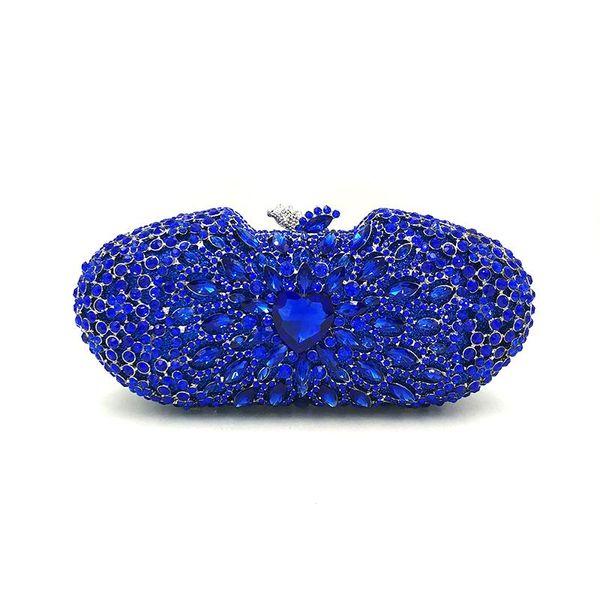elegant women evening party colorful handbag diamonds luxury clutches heart shape crystal purses bridal wedding party purses (600862065) photo