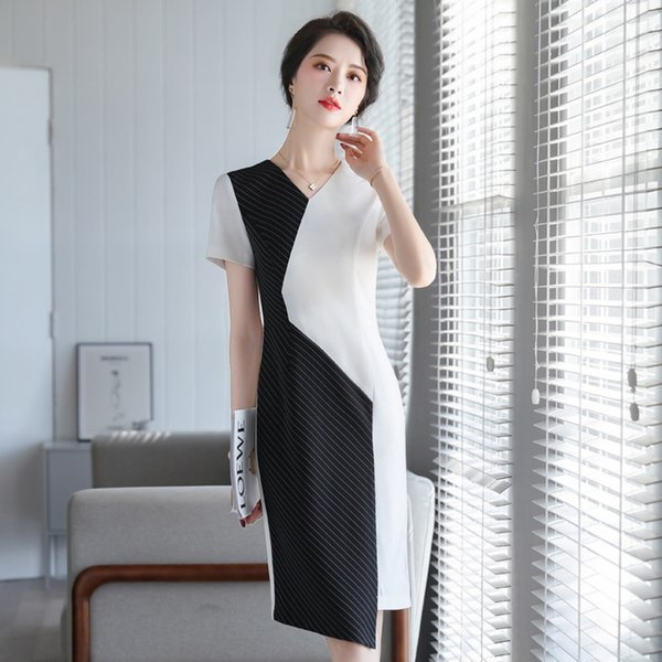 Jewelry store professional dress goddess fanxia thin black ol temperament fashion Jewelry store outfit Business Suits formal occasion clothe