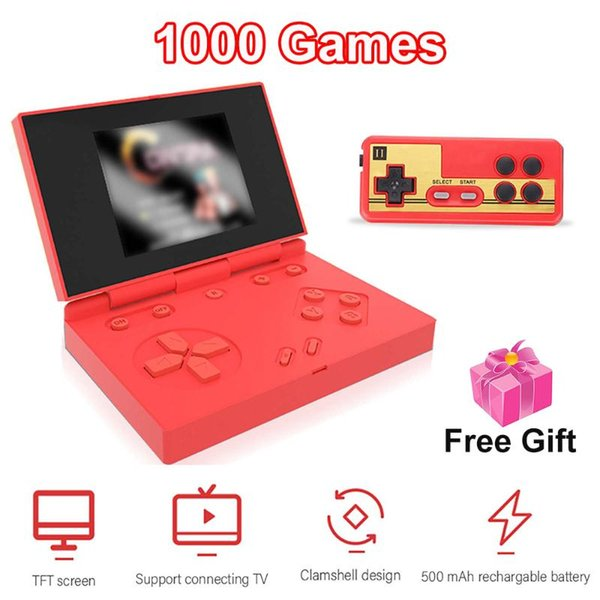 1000 Games Retro Portable Mini Handheld Game Console 3.0 Inch Color Tft Screen Game Player For Kids Gift