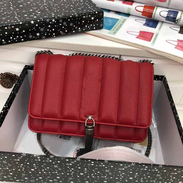 handbag purse genuine leather y purse chain strap shoulder crossbody handbag fashion totes ladies purse bag (599310995) photo
