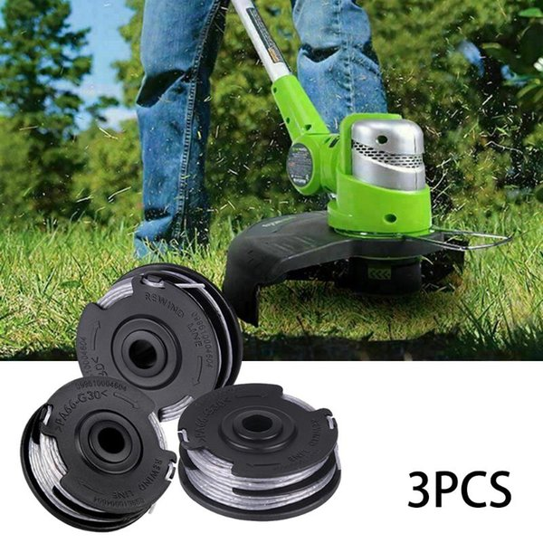 for greenworks .065-inch gray dual line string trimmer replacement spool 29242 garden yard accessories (591968820) photo