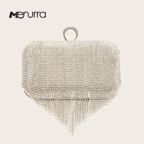 women crystal clutch purses evening clutch bag tassel rhinestone series-dazzling ring evening bags for wedding party purses (595613334) photo