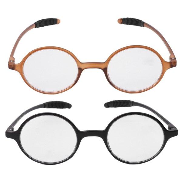 +1.0~+4.0 Lightweight TR90 Round Eyeglasses Reading Glasses Resin Presbyopia 62KE