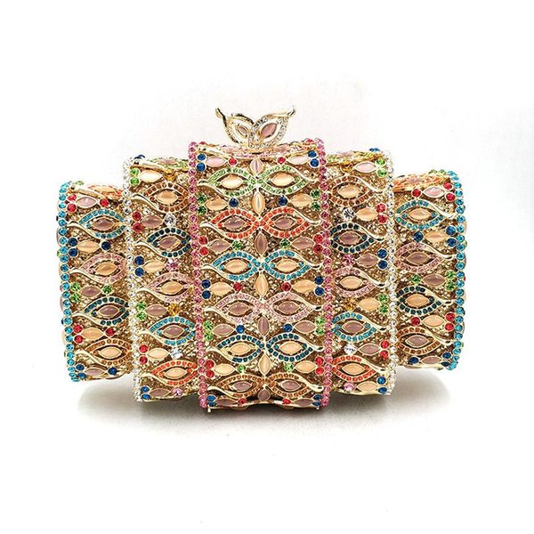 nigeria bridal wedding party purses women evening party amber stone diamonds bag luxury clutches elegant crystal purses (595364069) photo