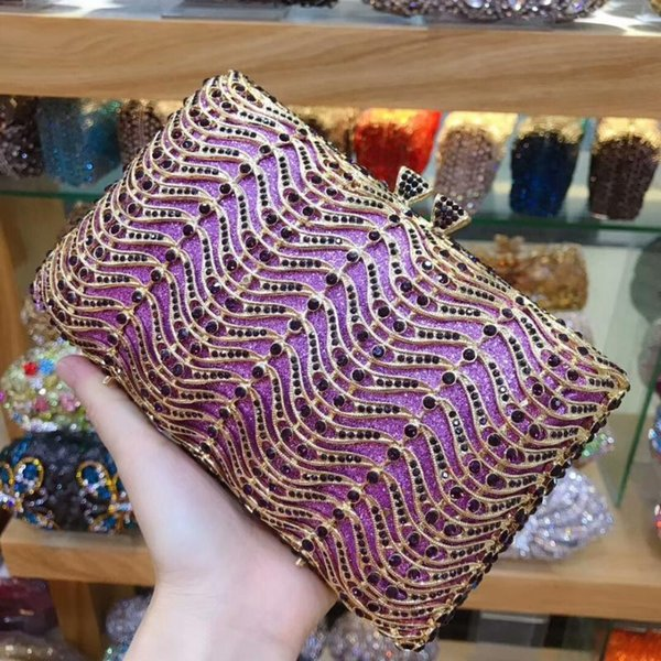 luxury crystal evening bag handmade style rhinestones pearl women evening bags vintage satin lady party wedding clutches purses (600395063) photo