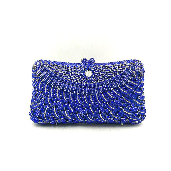 elegant women evening party handbag diamonds luxury clutches wallet crystal purses nigeria vintage bridal wedding party purses (595613343) photo