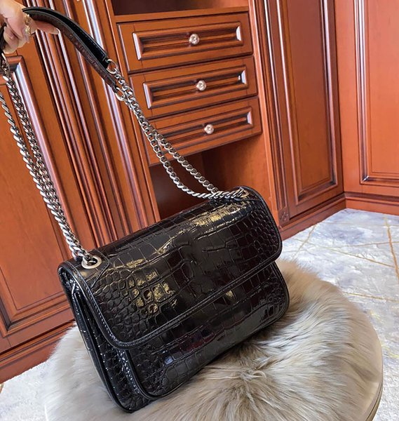 handbag purse y purse alligator pattern fashion totes handbag purses chain strap shoulder bag women (599311270) photo