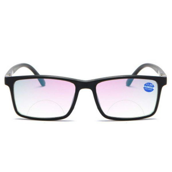+4 +2 +2.5 +3 +3.5 +1 +1.5 Bifocal Anti Blue Reading Portable Multifocal Presbyopic Glasses Magnification Square Diopter