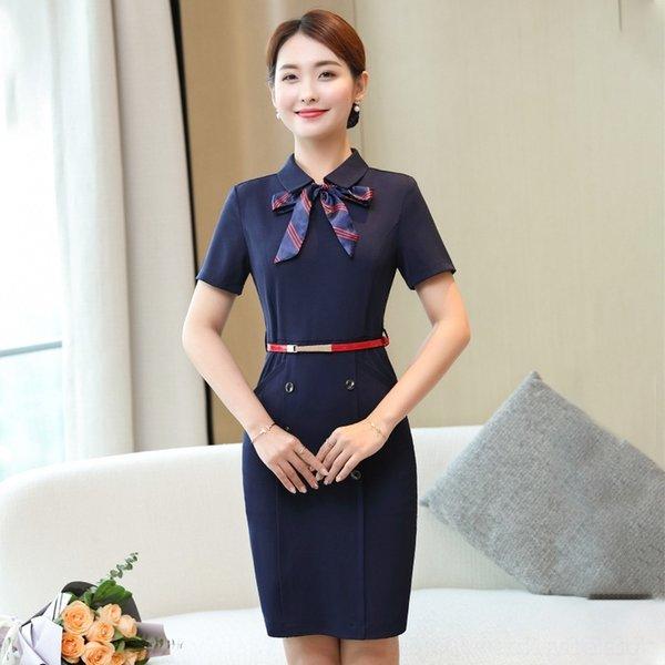 ycv4h jewelry dress teacher dress Professional Ktvktv female Desk customer service KTV Hotel Front property Sales Department store Xia DBGH4