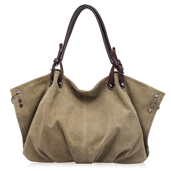 fashion women handbag canvas bag shoulder bags tote purse handbag (596182519) photo