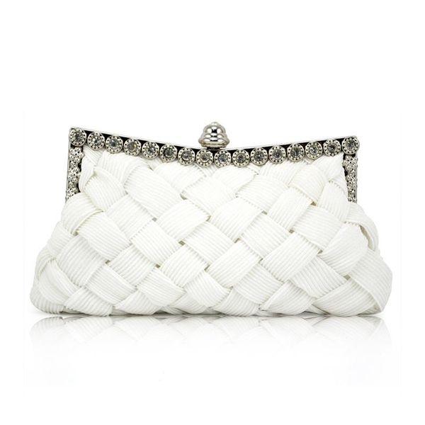 white satin bridal evening prom clutch handbag purse (595677240) photo