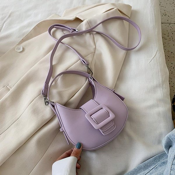 candy color new saddle bag pu leather for women bags ladies shoulder crossbody bags girls handbags purses female bolso wholesale (597200632) photo