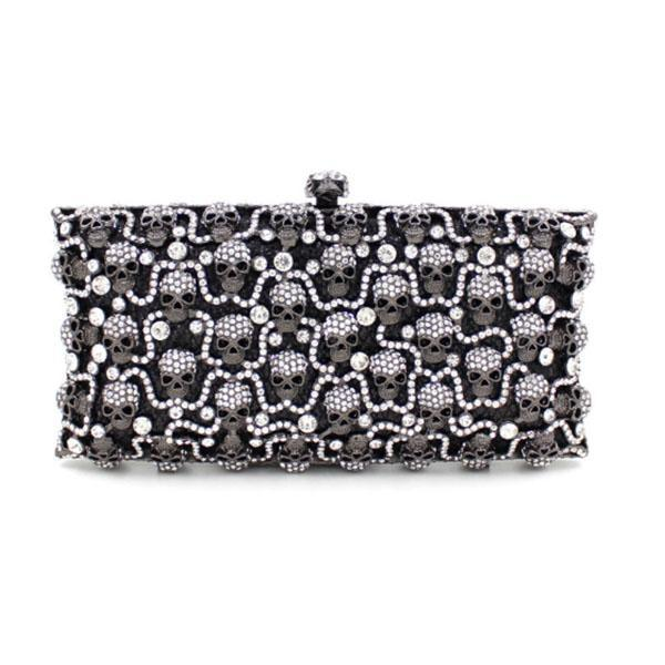 women evening bags shiny beads film diamonds ladies day party clutches purses luxury crystal embroidery chain evening bags blue (595352984) photo