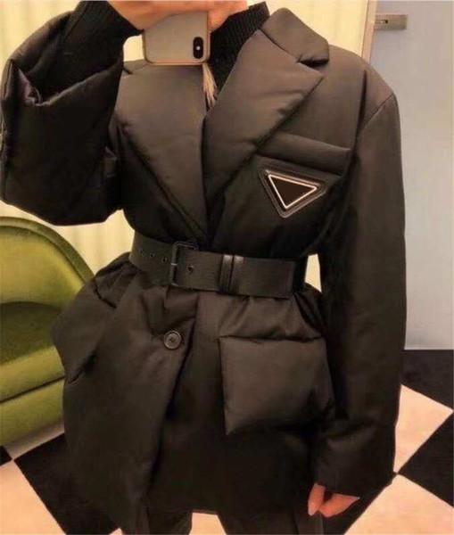 Winter Womens Jacket Down Parkas Long Coat Fashion Style With Betl Corset Lady Slim Fashion Jackets Pocket Outsize Warm Coats
