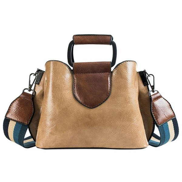 women lady handbag shoulder bags tote purse wide strap leather messenger hobo bag satchel m5te (600081462) photo