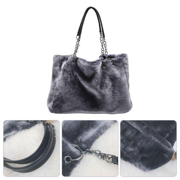 thinkthendo women fashion messenger lady hobo handbag shoulder bag plush tote purse satchel bags women bags (596185032) photo