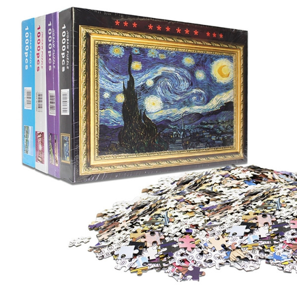 1000 Pcs Puzzle Kids Jigsaw Landscape Educational Toys For Children Animation Pairing Puzzles Gift D131 Y200421