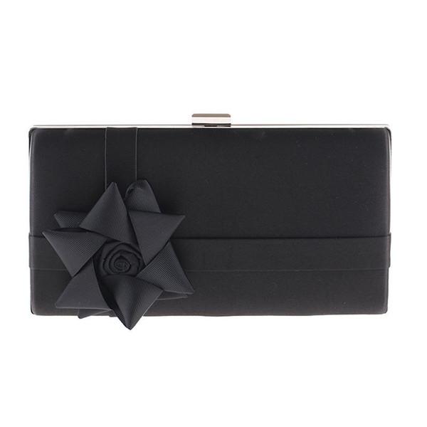 2020 new black women's bag satin handbag bridal wedding evening bag clutch party purse makeup shoulder xst211-b (592319041) photo