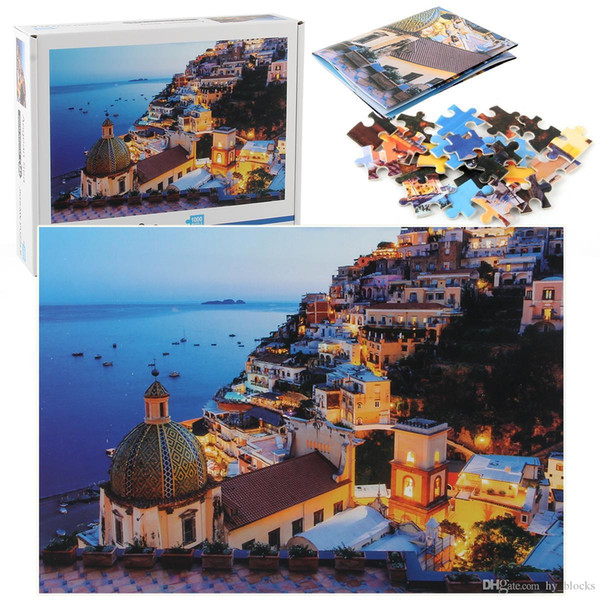 1000 Piece Of Hard Paper Street Scene Of Different Countries Landscape Puzzles Stress Reduction Puzzle Game