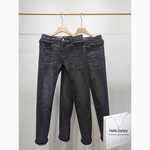 2020 New Mens Solid Color Jeans Mens High Quality Streetwear Pants European American Style Men's Jeans Casual Men Straight Jean