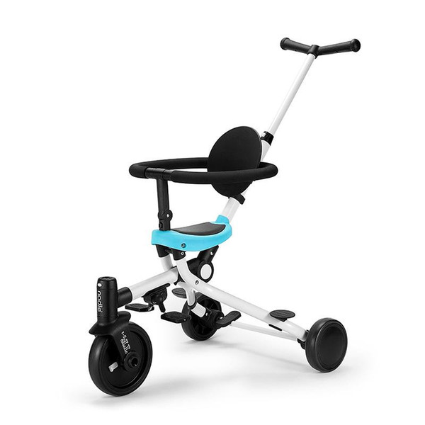 Hand Push Tricycle, Foldable Lightweight Two-way Baby Stroller, Multifunctional 2-in-1 Baby Bicycle Tricycle Stroller Trike