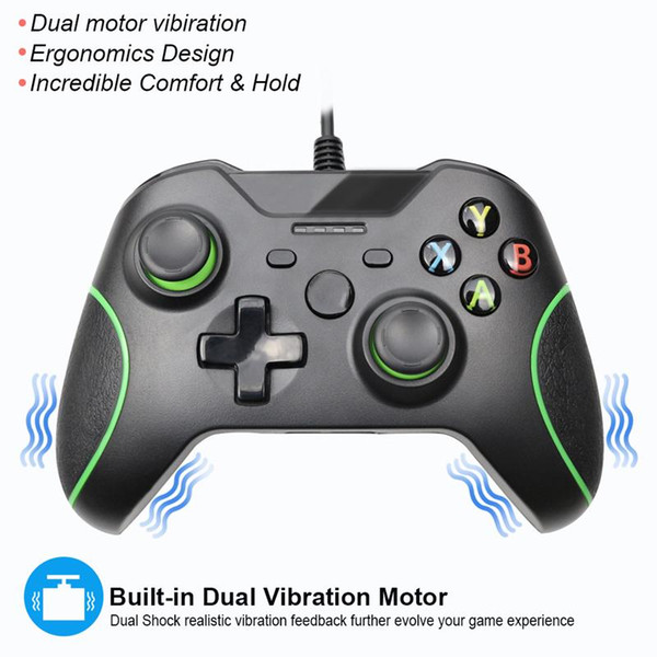 1.75m Wired Consoles Game Vibration Controller Usb Gamepads Game Joystick Joypad Action Button For Xbox One / One S / X Pc