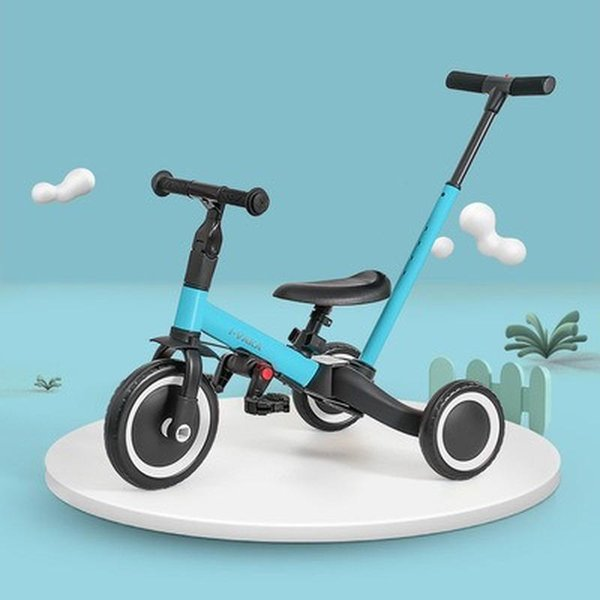 Children's Tricycle, Baby Stroller, Artifact Stroller, Foldable Lightweight Baby Bicycle Three Wheel Tricycle Stroller Bike