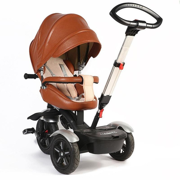 Children's Tricycle Baby Multifunctional Bicycle 8 Months-8 Years Old Infant Trolley Rotation Tricycle Stroller Bike