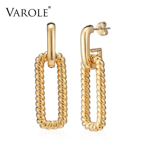 Fashion Twist Design Silver Metal Earrings