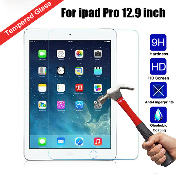 Tempered gla   0 3mm  creen protector  for ipad pro 12 9 inch 3 4 air air 2 mini 2 3 4 with package