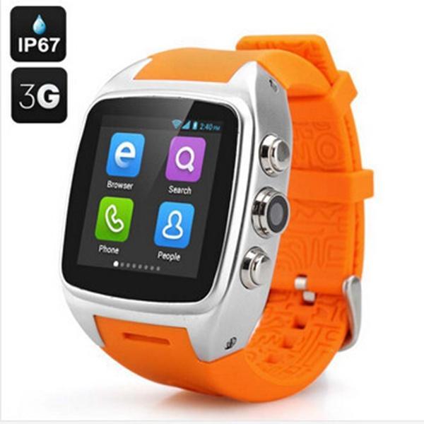 "IP67 водонепроницаемый android X01 Smart Watch phone 1.54 "" экран двухъядерный 4 ГБ wifi Bluetooth smartwatch GPS 3G ZGPAX S8 смартфон"