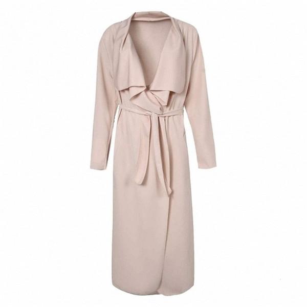 2016 женская осень мода длинные пальто для женщин с длинным рукавом плюс размер пальто Slim Fit ветровка пальто AR-SJM
