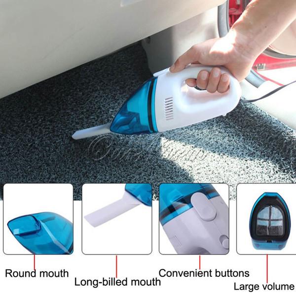 2В Портативный Сухой и влажный уход двойного назначения Супер всасывания автомобилей пылесос с 2,5 М длина кабеля питания