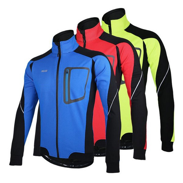 2015 Autunno Inverno Warm Up Jacket Uomo Abbigliamento bici della bicicletta del cappotto impermeabile antivento esterno Cycling Jersey Tops Primavera