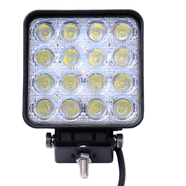 48w quare dc 12v 24v led work lamp pot light combo beam offroad boat car motorcycle uv night driving lighting