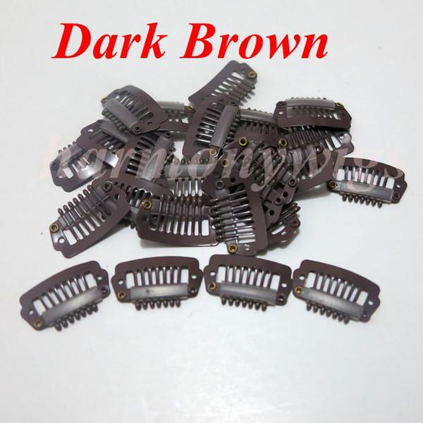Зажимы для наращивания волос 2.3 см 7 зубов из нержавеющей стали для наращивания че фото