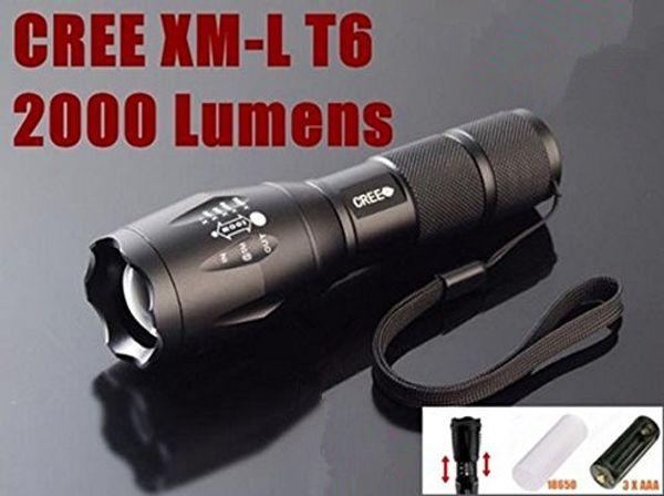 Лучшие High Power UltraFire E17 2000 люмен фонарик водить CREE T6 XM-L Кемпинг Факел Flash Light Масштабируемые CREE Водонепроницаемый Светодиодные фонари