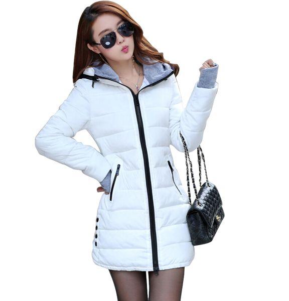 ватные куртки 2017 женские новые женские зимние пуховик хлопок тонкий женщины вниз куртка дамы пальто плюс размер M-XXXL CC276