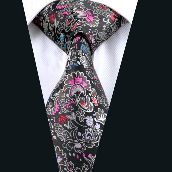 Цветок галстук шелковый галстук для мужчин 8,5 см ширина жаккардовые тканые Бизнес работы формальные галстук D-0267 фото